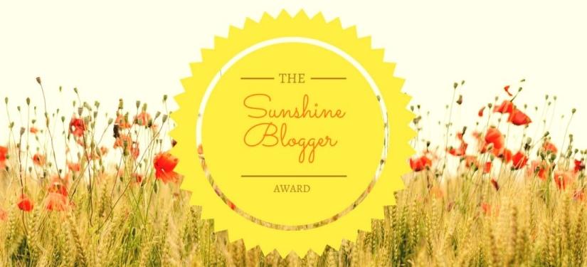 My first Sunshine BloggerAward