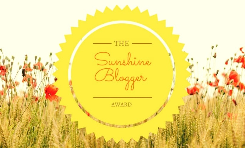 My first Sunshine Blogger Award